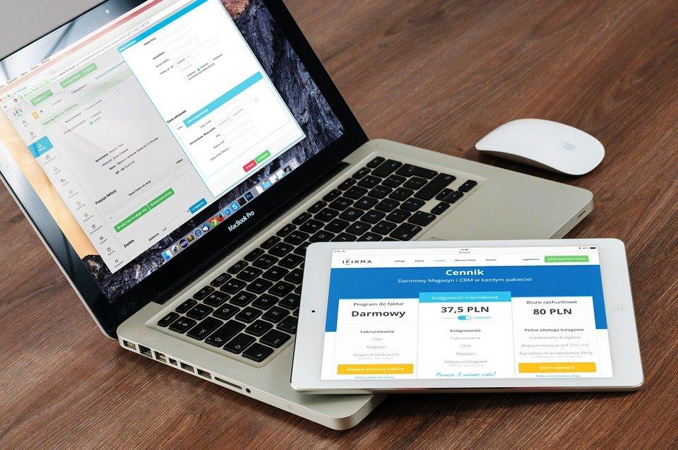 Macbook, 笔记本电脑, Ipad, 苹果, 计算机, 移动, 屏幕, 监视器, 业务, 互联网, 技术
